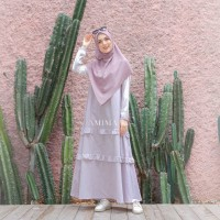 AMIMA SALAMAH DRESS BONE GAMIS ONLY BAHAN KATUN WELLINA ADEM