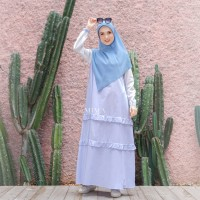 AMIMA SALAMAH DRESS THISTLE GAMIS ONLY BAHAN KATUN WELLINA ADEM