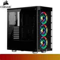 Corsair - iCUE 465X RGB Black Tempered Glass Mid-Tower Gaming Case