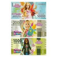 Uang Kertas Mainan motif Barbie