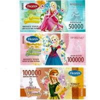 Uang Kertas Mainan motif Frozen