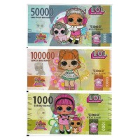 Uang Kertas Mainan motif LOL