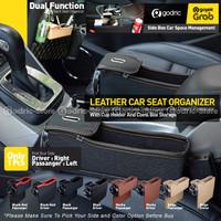 Front Seat Leather Car Organizer Rak Mobil (Sisi Driver / Penumpang)
