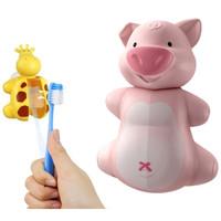 Tempat Penyimpanan Sikat Gigi Tempel Flipper Fun Animal Piggy BAB5