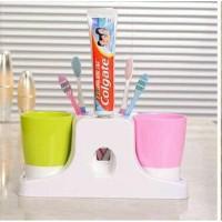 Tempat penyimpanan sikat gigi dispenser odol meja kamar mandi 30012