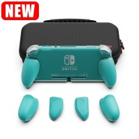 Nintendo Switch Lite Skull & Co Maxcarry Grip Case Turquoise / Storage