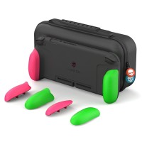 Nintendo Switch Skull & Co. Maxcarry Grip Case Neon Pink & Green
