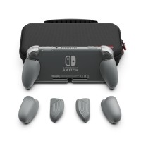 Nintendo Switch Lite Skull & Co. Maxcarry Grip Case Grey / Storage