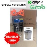 Cup Sealer Mesin Press Gelas Full Automatic ET-Q7 + roll KHUSUS GOJEK