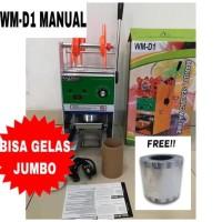 Cup Sealer Mesin Press Gelas WM-D1 u/ Gelas Tinggi Jumbo 22 Oz + Roll