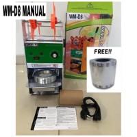 Cup Sealer Mesin Press Gelas WILLMAN WM-D8 + Roll Plastik GARANSI 1THN