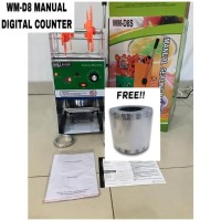 Cup Sealer Digital Counter Mesin Press Gelas WM-D8 + Roll GARANSI 1THN