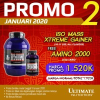 Iso Mass Xtreme Gainer (Rasa Vanilla), 10.11 lbs - Ultimate Nutrition