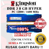 Memori/Ram Pc Kingston Hyper Ddr3 8gb