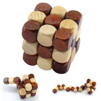 3D Wood Puzzle Model Magic Cube