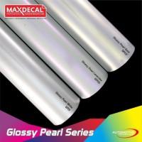 MAX DECAL GP Glossy Pearl Putih Mutiara Soft Tone Skotlet 50 cm Roll