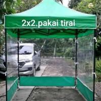 tenda lipat uk 2x2 besi 0.8 + 3 dinding