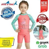 Baju Renang Anak Cowok Cewek FLAMINGO 2 piece mod DIVE & SAIL ORIGINAL