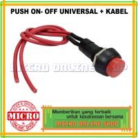 Saklar Push On-Off Bulat Universal / Switch Push On-Off Bulat
