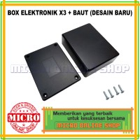 Box Plastik Hitam Type X3 / Box Elektronik X3 / Electronic Box Project