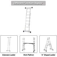Multi Purpose Scaffolding Ladder Aluminum Extendable Tangga alumunium