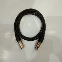 Kabel XLR Male to Female 2Meter 3pin for Phantom power BM800 BM700
