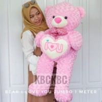 Boneka Teddy Bear Jumbo I love You