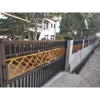 Jual Pagar Rumah Minimalis Pagar Besi Model Dua Warna - Kota Depok -  Aprilia Las | Tokopedia