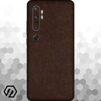 [EXACOAT] Mi Note 10 Skin / Garskin - Leather Brown