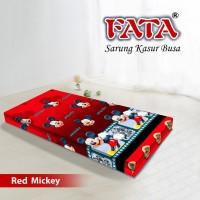 FATA SARUNG KASUR BUSA ANAK KARTUN RED MICKEY MOUSE 120X200