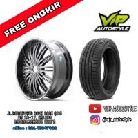 velg racing mobil Wuling Almaz Racing ring 22 plus Ban Accelera iota