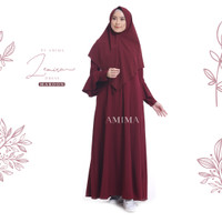 AMIMA ZEMIRA DRESS MAROON GAMIS ONLY LADY ZARA BELL SLEEVES formal