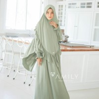 Aisy Dress Mom GREEN TEAL Gamis Only BAHAN JERSY ADEM JATUH DAILYWEAR