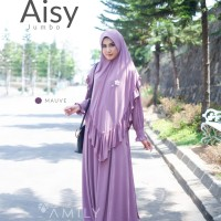 Aisy Dress Mom MAUVE Gamis Only BAHAN JERSY ADEM JATUH DAILYWEAR