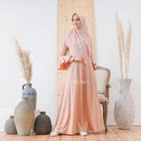 AMIMA ZEMIRA DRESS PEACH GAMIS ONLY LADY ZARA BELL SLEEVES formal