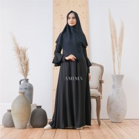 AMIMA ZEMIRA DRESS BLACK GAMIS ONLY LADY ZARA BELL SLEEVES formal