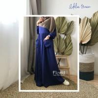 Adelia Dress OCEAN Florid Gamis Homey Dress Rayon Viscose Polos