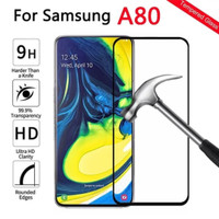 TEMPERED GLASS 5D SAMSUNG A80 FULL LEM FULL COVER TEMPERED GLASS A80