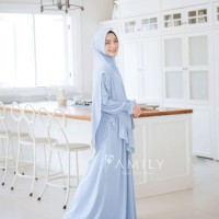 Aisy Dress Mom BABY BLUE L Gamis Only BAHAN JERSY ADEM JATUH DAILYWEAR