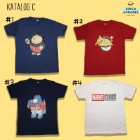 Baju Kaos Anak Cowok Laki - Laki Lengan Pendek Premium - Katalog C