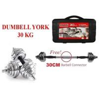 Dumbell York 30kg Chrome / Barbel 30kg / Dumbel Set 30 kg - DUMBELL