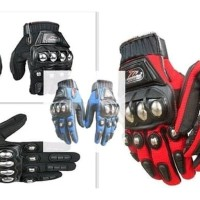 New Sarung Tangan Gloves Motor Touring Full Jari Madbike Metal Besi