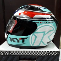 helm full face KYT R-10 Race Aqua