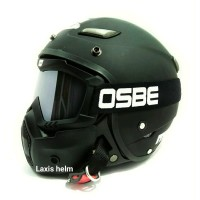 Helm Retro Jpn Momo black with goggle masker