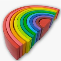 mainan kayu edukasi/edukatif - nobie pelangi u12 besar(rainbo Block)