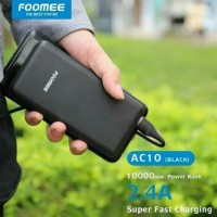 Power bank 10000 Mah AC10 Foomee Original 10000 Mah Real kapacyty