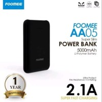 Power Bank 5000 MAH Foomee Original AA05 Mini Power Bank 5000 MAH