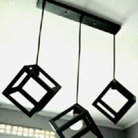 lampu gantung kubus 3 susun