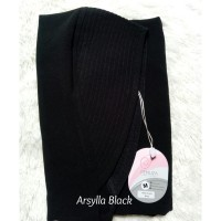 Arsylla Khimar BLACK HITAM by Fenuza Ceruty Baby Doll High Quality