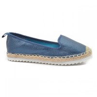 refresh woman shoes metallic blue